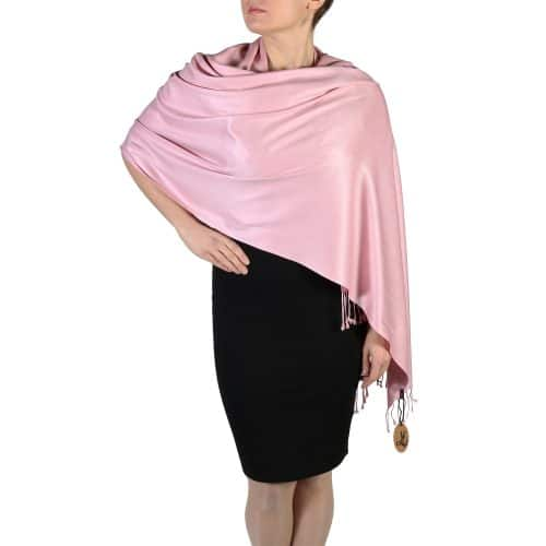 dusty pink pashmina shawl wrap (2)