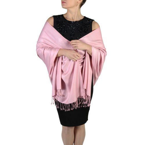 dusty pink pashmina shawl wrap (3)