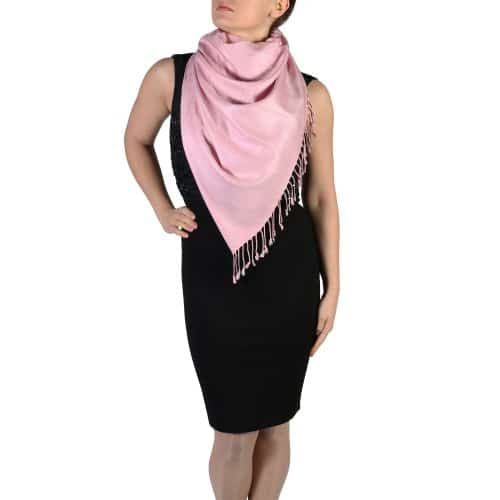 dusty pink pashmina shawl wrap (4)