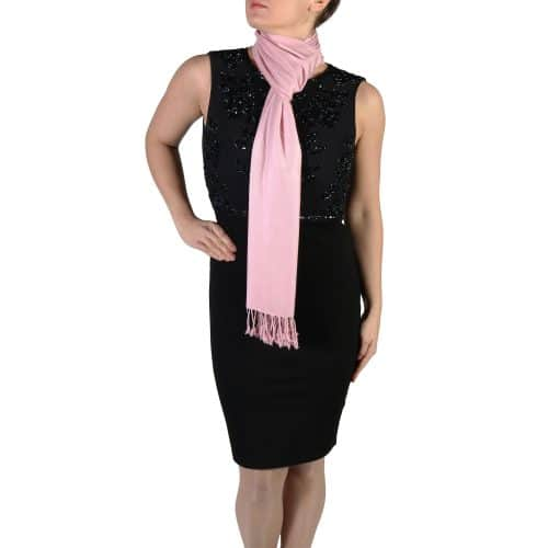 dusty pink pashmina shawl wrap (5)