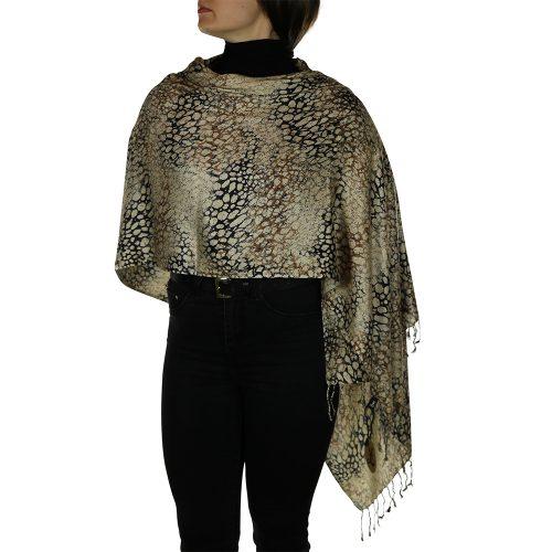 leopard pashmina