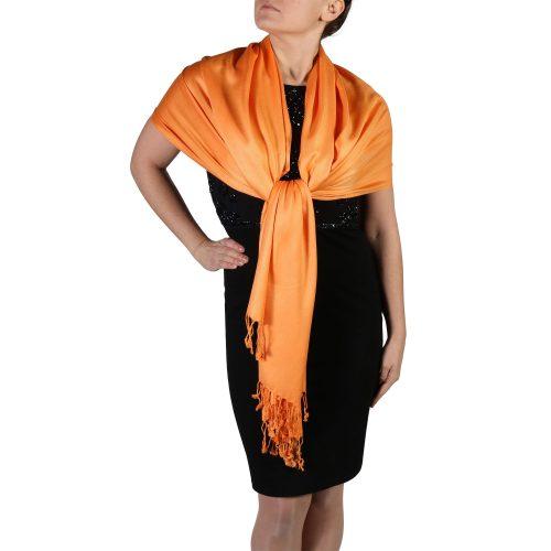 orange pashmina shawl wrap scarf (1)