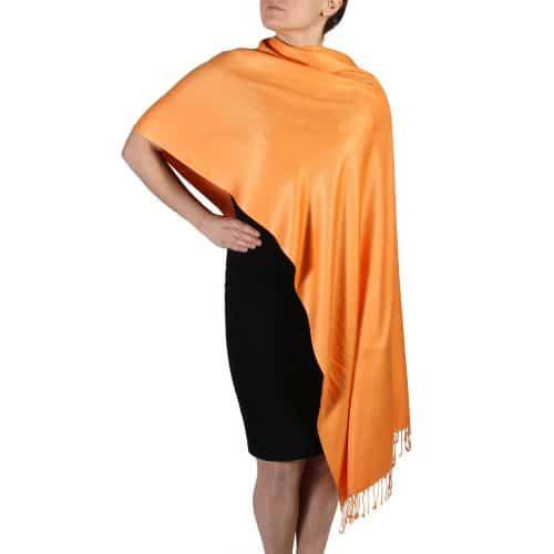 orange pashmina shawl wrap scarf (2)