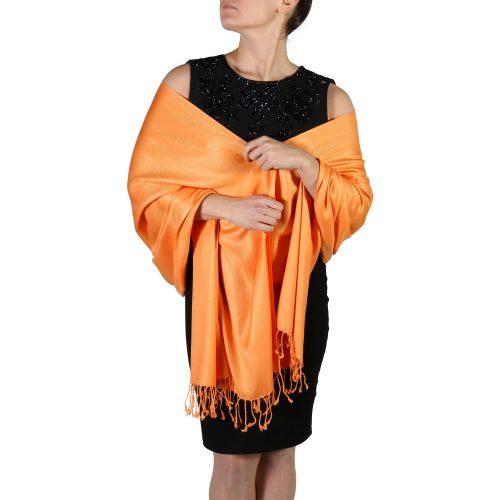 orange pashmina shawl wrap scarf (3)