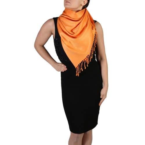 orange pashmina shawl wrap scarf (4)