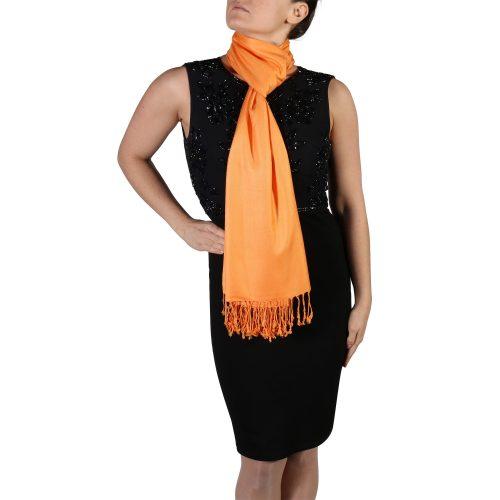 orange pashmina shawl wrap scarf (5)