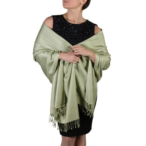 sage pashmina wrap scarf shawl (1)
