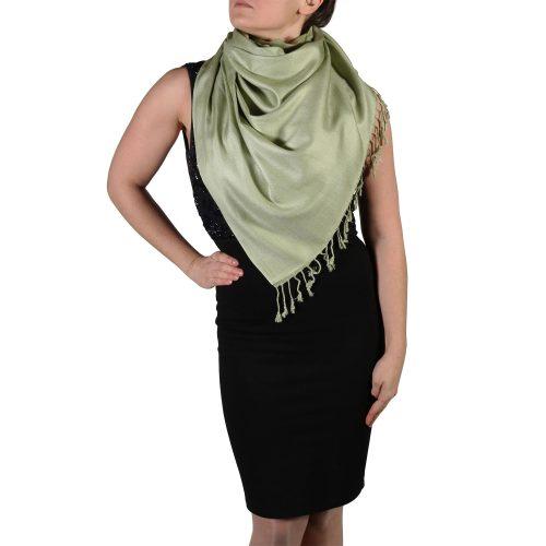 sage pashmina wrap scarf shawl (2)