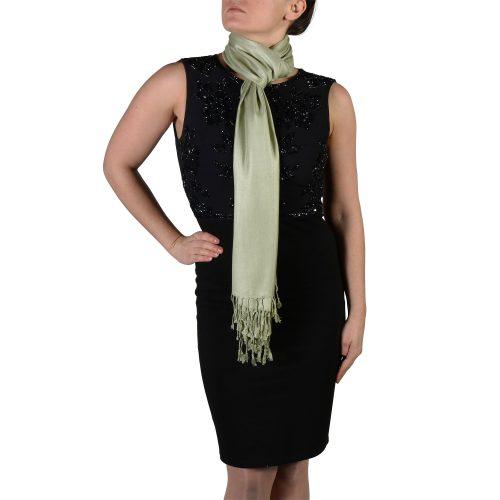 sage pashmina wrap scarf shawl (3)
