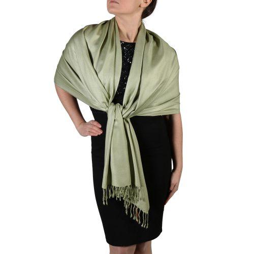 sage pashmina wrap scarf shawl (4)