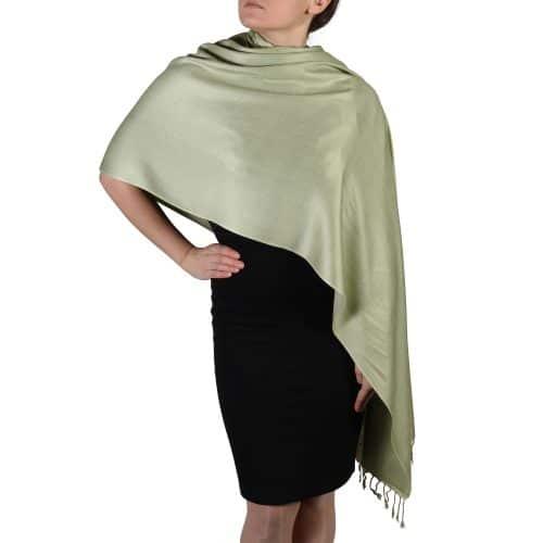 sage pashmina wrap scarf shawl (5)