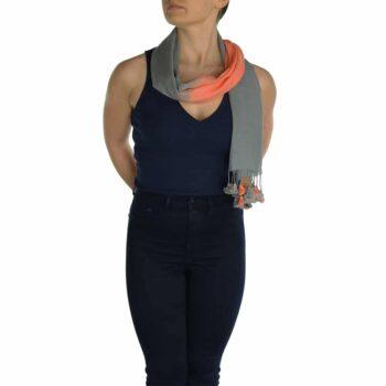 gray orange pashmina scarve (1)