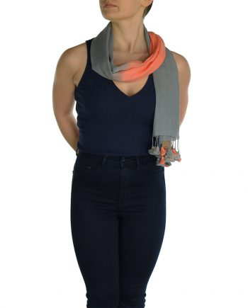 gray orange pashmina scarve (1)