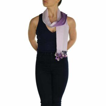 lavender pashmina scarf pom pom (1)