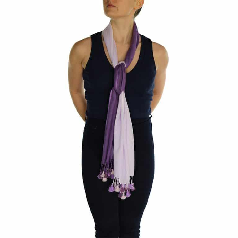 lavender pashmina scarf pom pom (2)
