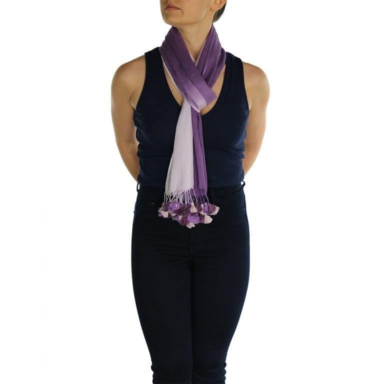 lavender pashmina scarf pom pom (3)