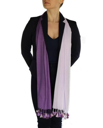 lavender pashmina scarf pom pom (4)