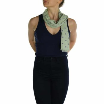 polka dot ladies scaf sage (3)
