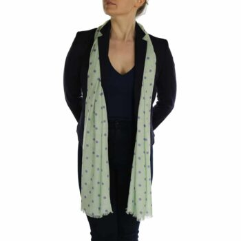 polka dot ladies scaf sage (4)