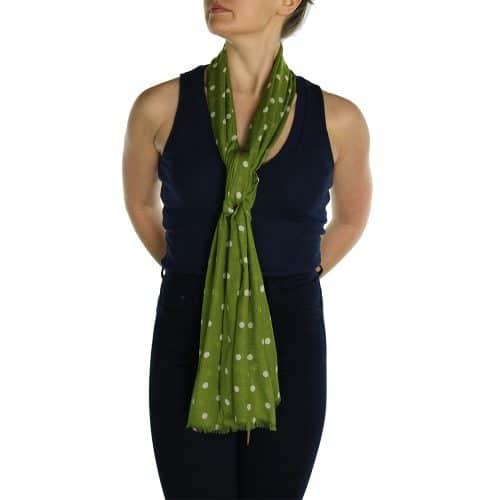 polka dot pashmina green (1)