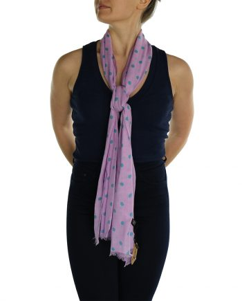polka dot pashmina lavender pink (1)