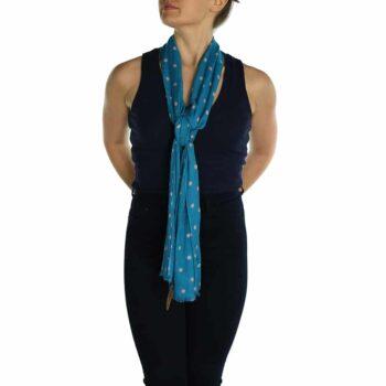 polka dot pashmina malibu blue (1)