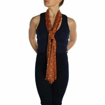 polka dot pashmina orange (1)