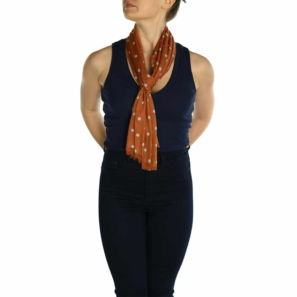 polka dot pashmina orange (2)