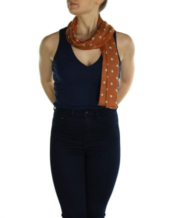 polka dot pashmina orange (3)
