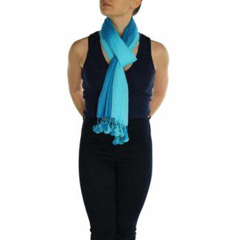 turquoise pashmina scarve (1)