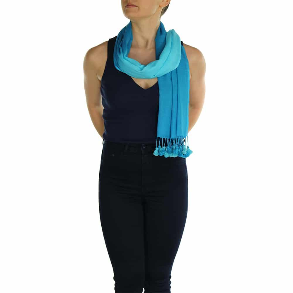 turquoise pashmina scarve (3)