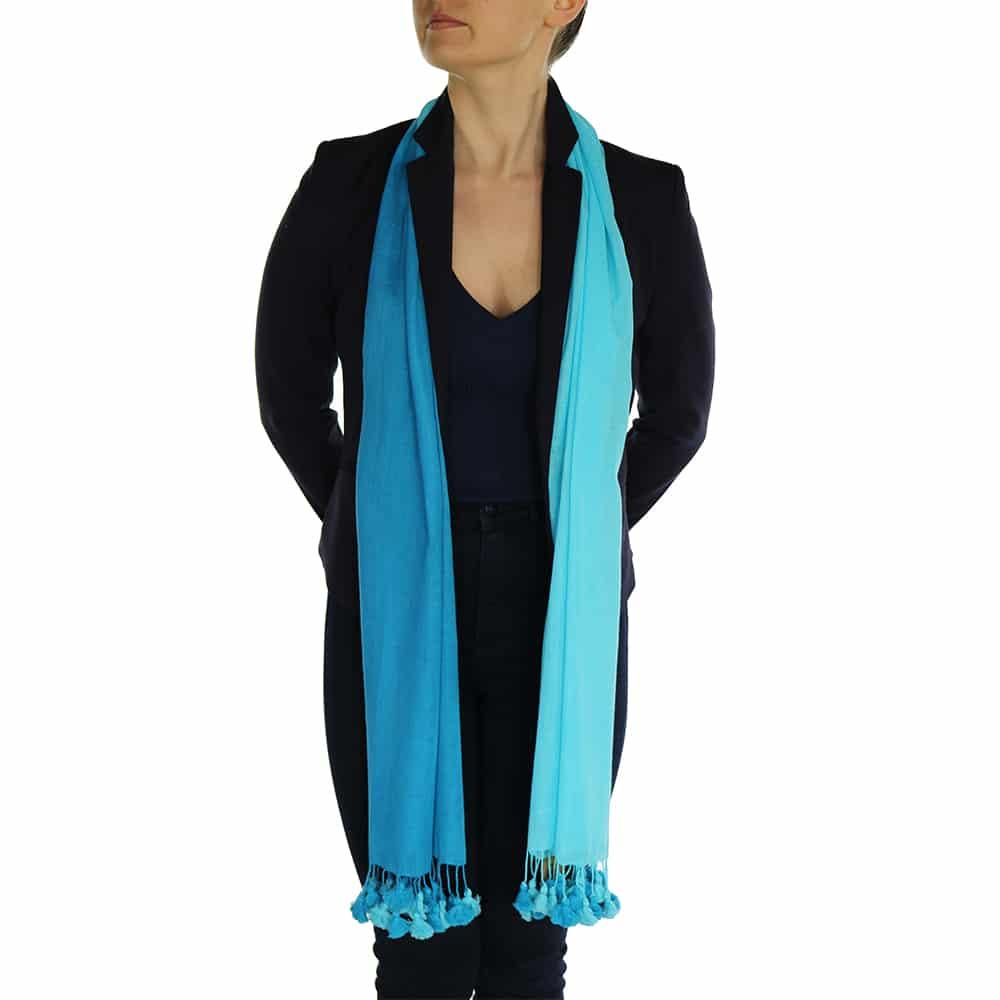 turquoise pashmina scarve (4)