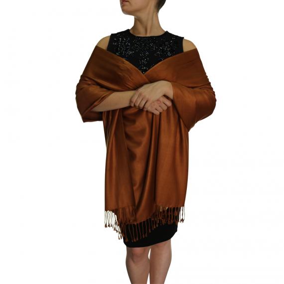 chocolate pashmina ladies scarves wrap shawl (1)