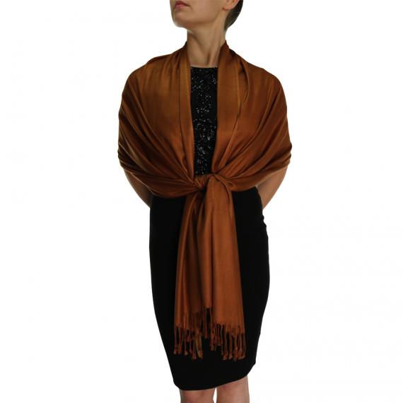 chocolate pashmina ladies scarves wrap shawl (2)