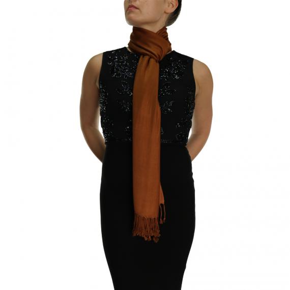 chocolate pashmina ladies scarves wrap shawl (4)