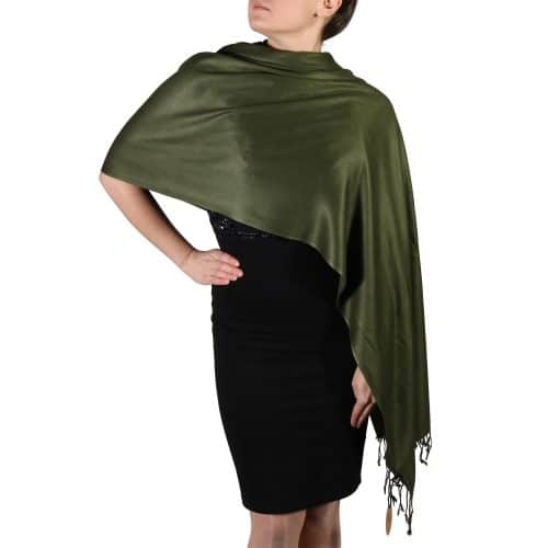 dark green pashmina shawl wrap stole (2)