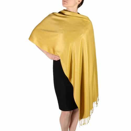 Mustard Pashmina Scarf Shawl Wrap