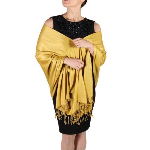 mustard pashmina wrap shawls (3)