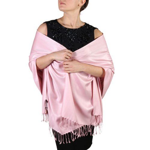 baby pink pashmina scarf shawl wrap (1)