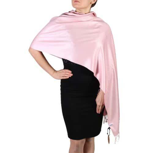 baby pink pashmina scarf shawl wrap (2)