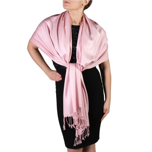 baby pink pashmina scarf shawl wrap (3)