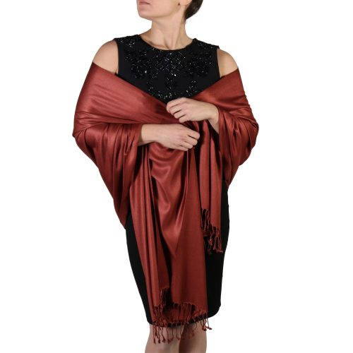 bronze pashmina shawl wrap stole (1)