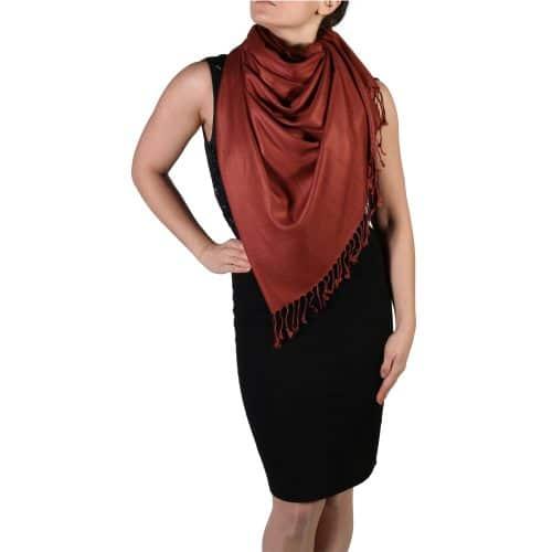 bronze pashmina shawl wrap stole (5)