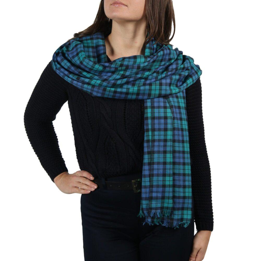 black watch pashmina scarf shawl (3)