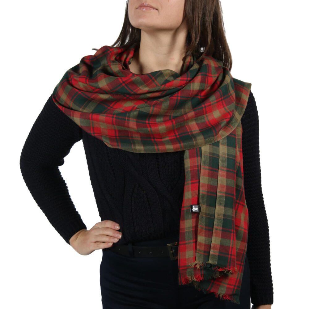 maple leaf tartan scarf shawl wrap pashmina (4)