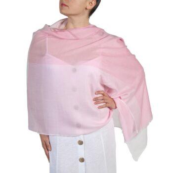 Pink Summer Cotton Blend Scarf
